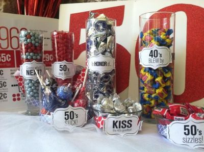50th Birthday Party Decorations Candy Buffet
