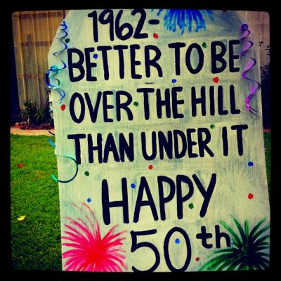 50th Birthday Party Decoration Sign Idea