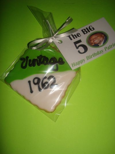 50th Birthday Party Favor Cookie Idea