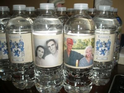 50th Birthday Party Water Bottles