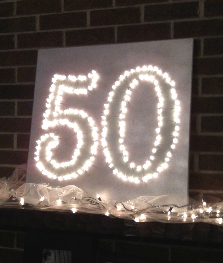 50th birthday party decorations