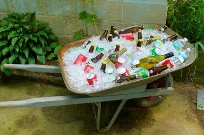 Beverage Wheelbarrow 50th Birthday Idea