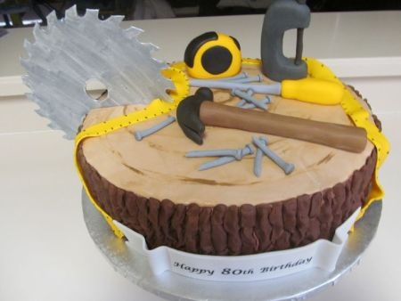 Carpenters's 80th Birthday Cake Idea