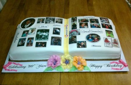 80th Birthday Cake Ideas Memory Book