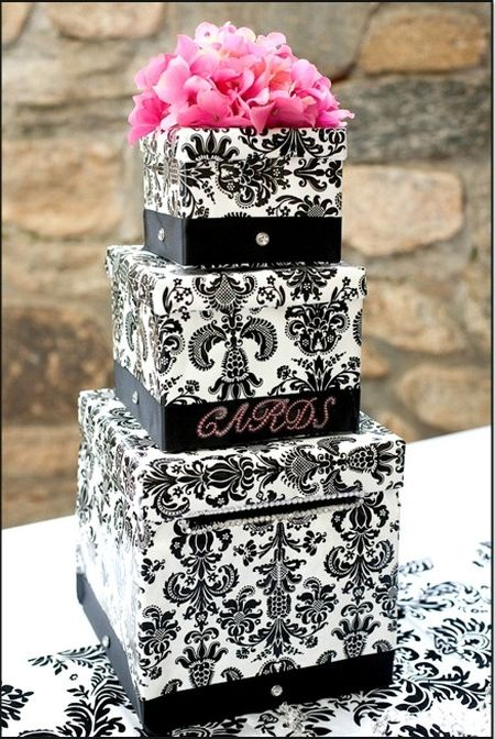 Decorative box for 80th birthday cards