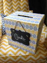 Chalkboard 80th Birthday Card Box