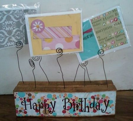 80th Birthday Card Holder