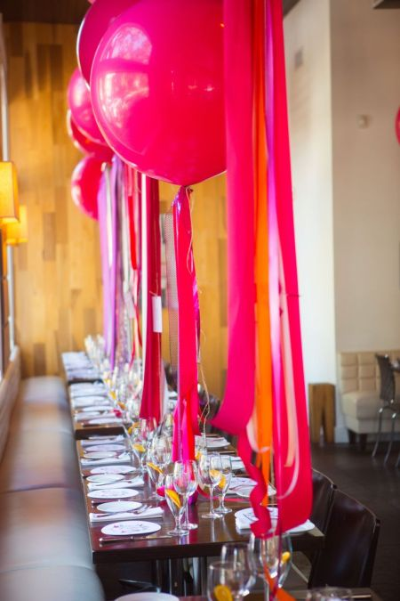 Balloons and Streamers 80th Birthday Decorations