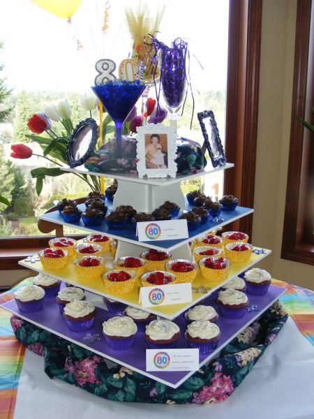 80th Birthday Cupcakes And More