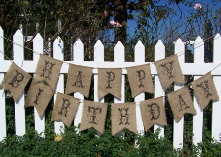80th Birthday Decorations Burlap Banner