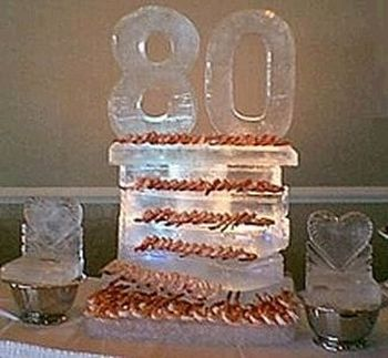80th Birthday Decorations with Ice
