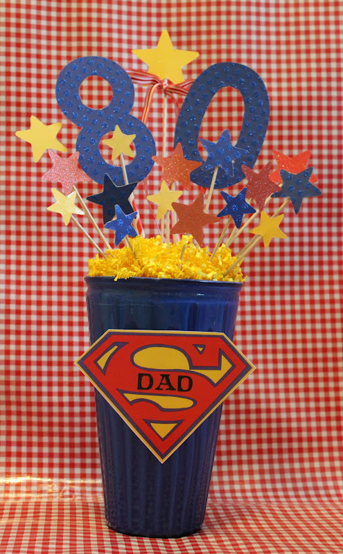 Super Dad 80th Birthday Decorations