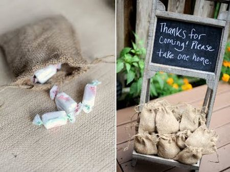 Burlap 80th Birthday Party Favors