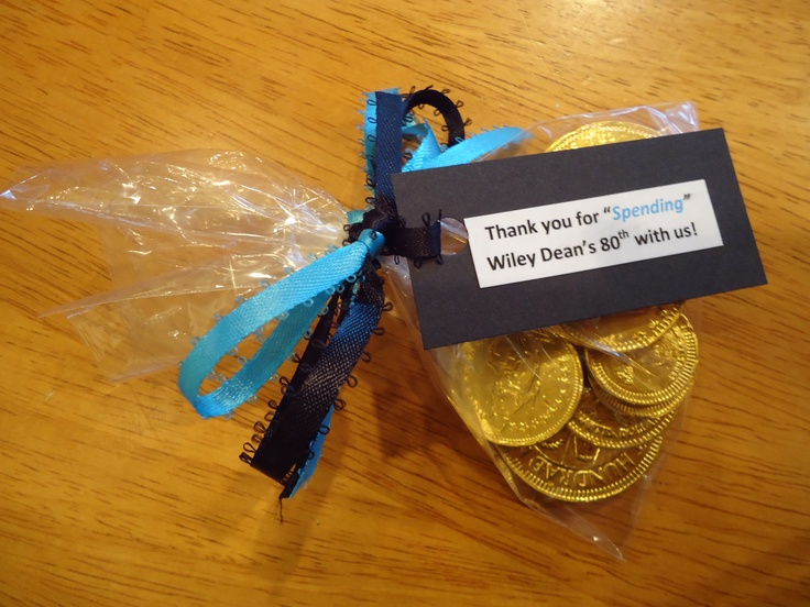 Coins 80th Birthday Party Favors