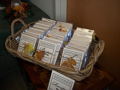 80th Birthday Party Favors Recipe Card Basket