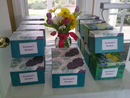 Recipe Box 80th Birthday Party Favors