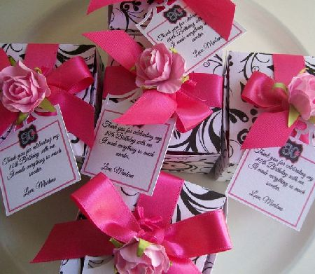Colorful 80th Birthday Party Favors