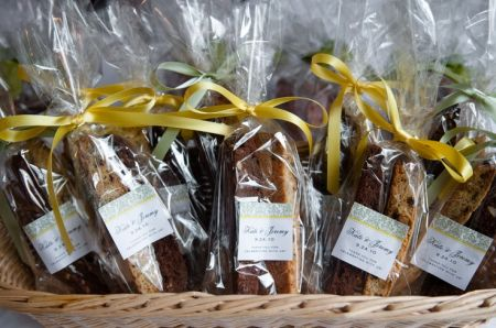 Bags Of Biscotti Wedding Cookie Favors