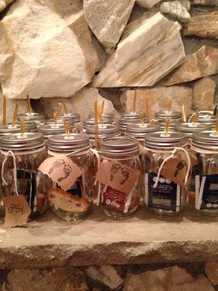 Biscotti Filled Mason Jars