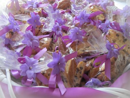 Colorful Biscotti Wedding Favors