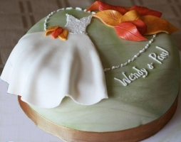 Bridal Shower Cake Fall