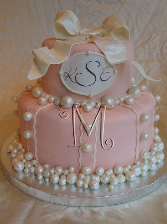 bridal shower cake ideas monogrammedjpg