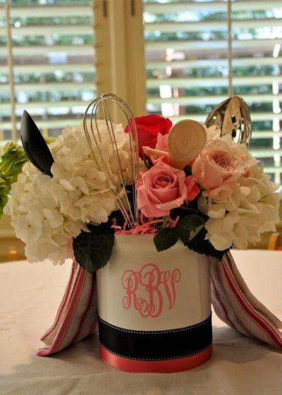 monogrammed bridal shower invitations