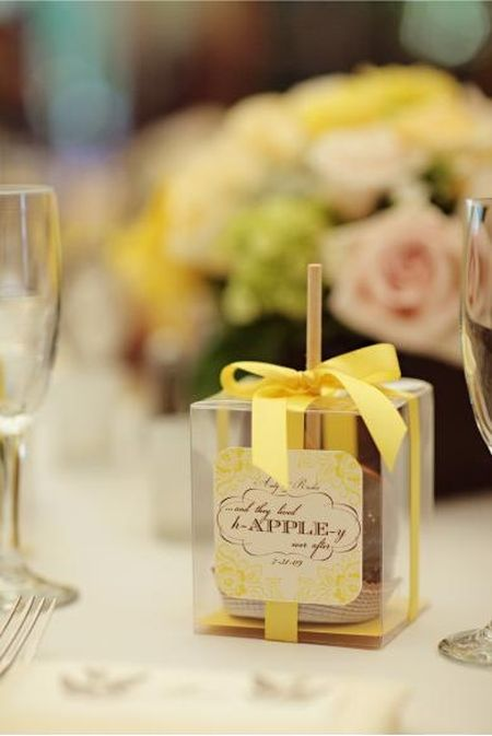 Candy Apple Wedding Favor Packaging