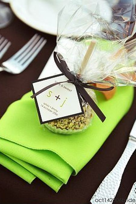 Candy Apple Wedding Favor Tag