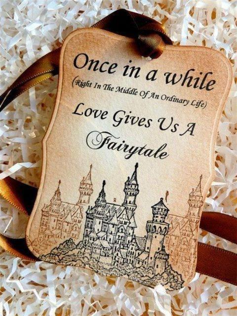 Castle Themed Wedding Favor Tag