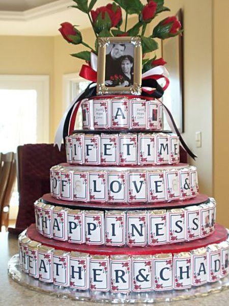 Chocolate Bar Wedding Favor Cake