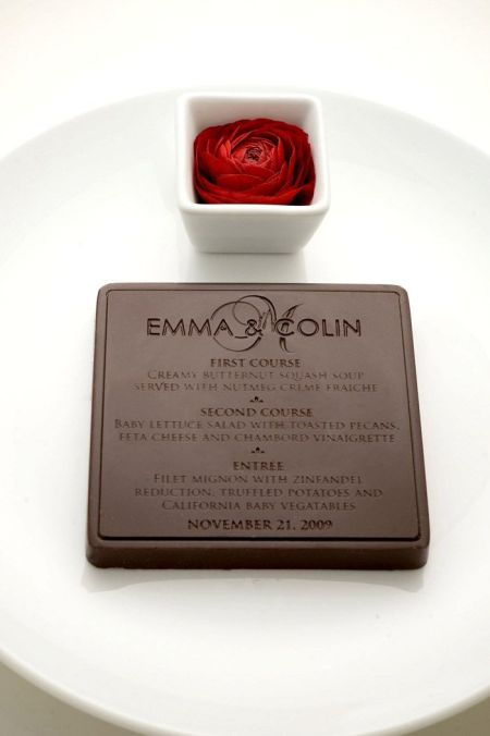 Chocolate Menu For Wedding