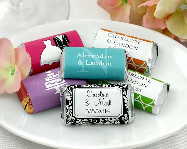 Mini Chocolate Bar Wedding Favors