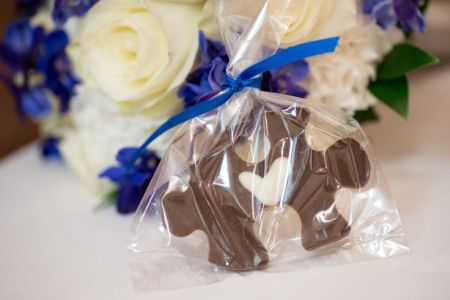 Chocolate Puzzle Piece Wedding Favor