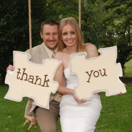 Chocolate Puzzle Wedding Favors Thank You