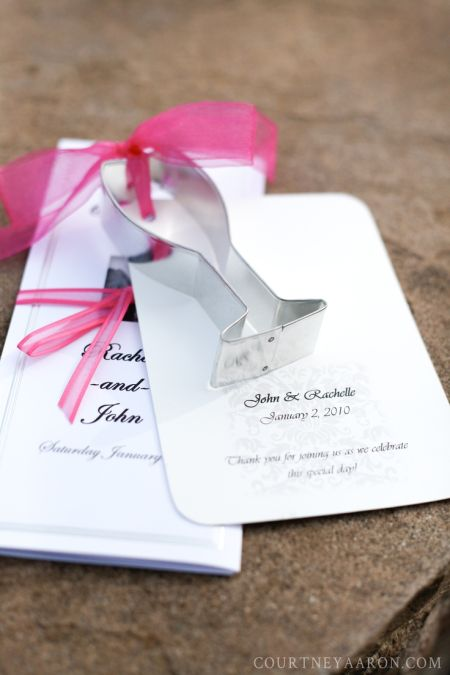 Champagne Glass Cookie Cutter Wedding Favors