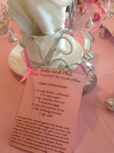 Cookie Cutter With Recipe Wedding Favor