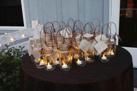 DIY Candle Wedding FAvor Lanterns