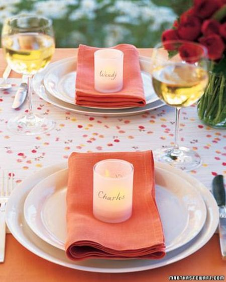 DIY Candle Wedding Favor Votives
