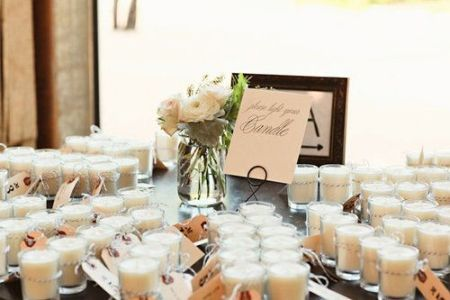DIY Candle Wedding Favor Table