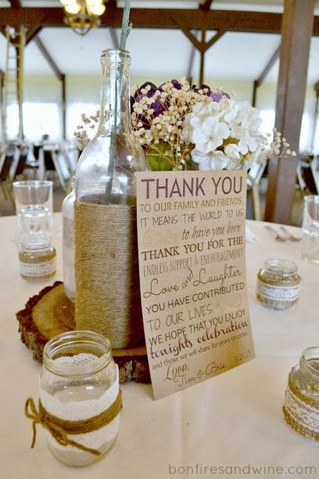 DIY Candle Wedding Favor Thank You