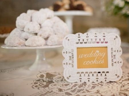 Danish Wedding Cookies Display