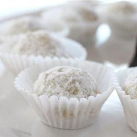 Danish Wedding Cookies In White Liners