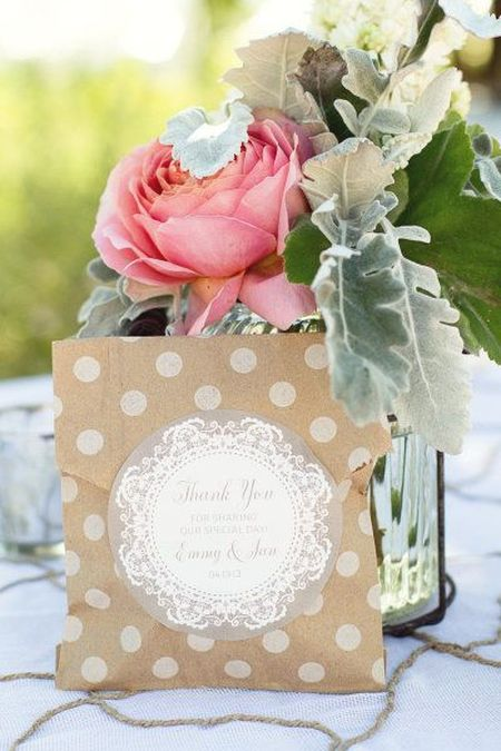 Decorated Wedding Cookie Favor Packaging