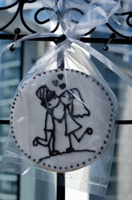 Unique Decorated Wedding Cookies