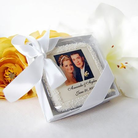 Edible Photo Decorated Wedding Cookies