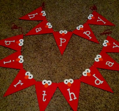 Elmo Birthday Party Ideas For Banners