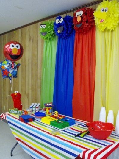 Creative Elmo Birthday Party Ideas Backdrop