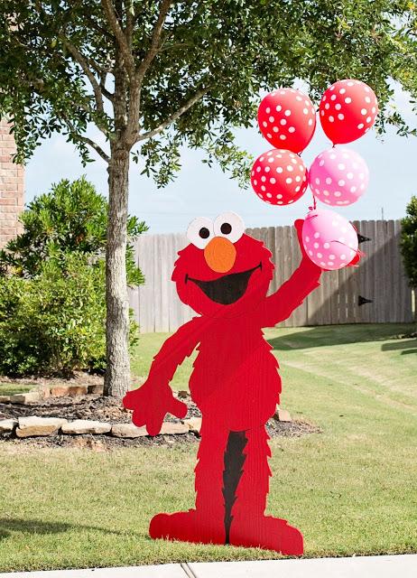 Elmo Birthday Party Ideas With Balloons