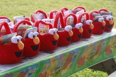 Elmo Birthday Party Favor Baskets